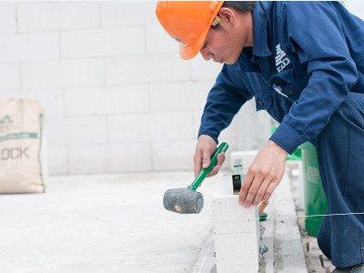 Cách xây gạch siêu nhẹ AAC