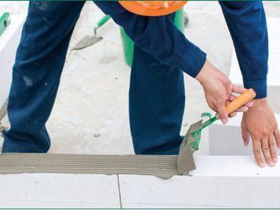Hình ảnh hướng dẫn xây gạch bê tông nhẹ AAC