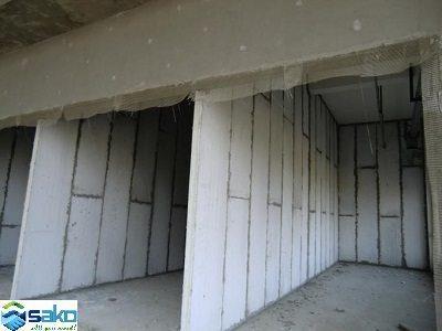 Xây tường vách bằn panel bê tông nhẹ