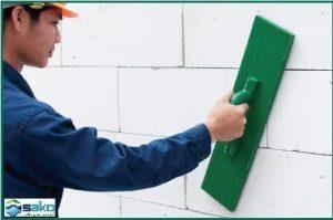 Hướng dẫn xử lý bề mặt tường gạch siêu nhẹ aac sau khi xây xong
