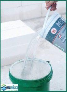 Hướng dẫn trộn vữa theo tỷ lệ nước trên bao bì xây gạch siêu nhẹ