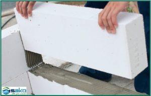 Biện pháp thi công gạch aac - đặt gạch hàng thứ 2