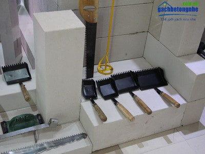 Dụng cụ thi công gạch bê tông nhẹ AAC