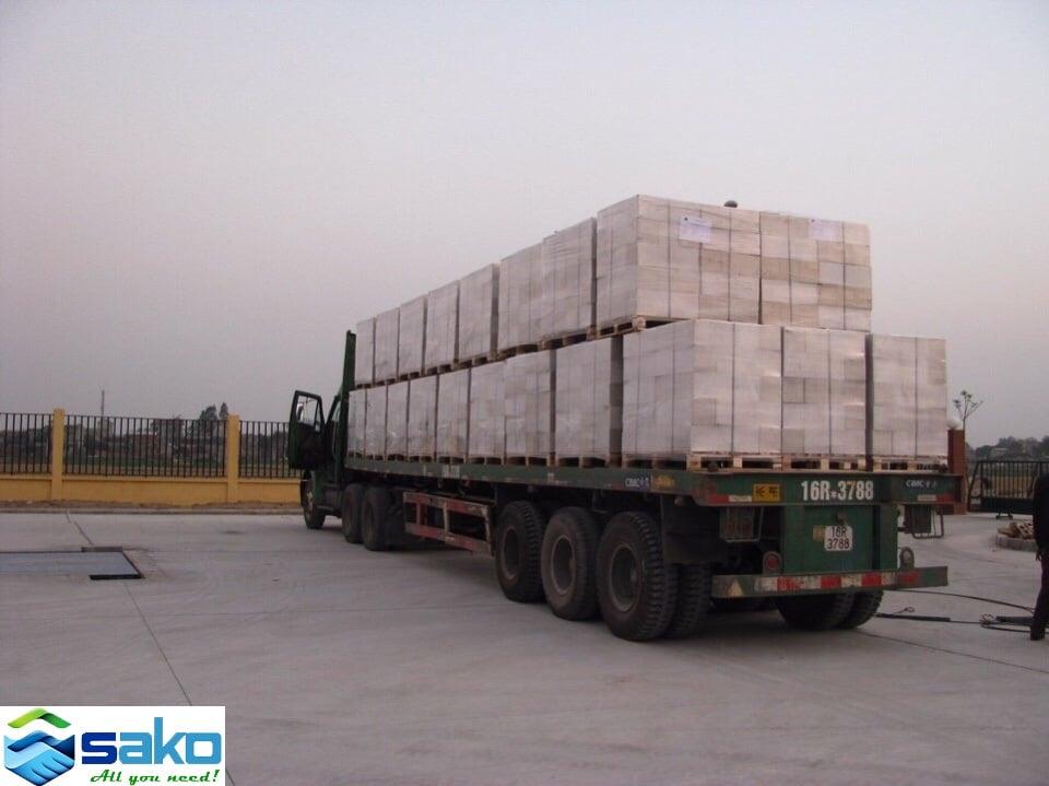 Dễ dàng vận chuyển gạch siêu nhẹ AAC tới mọi công trình