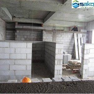 Gạch bê tông nhẹ dày 10 cm xây tường vách
