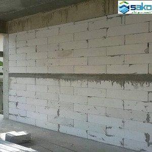 Hoàn thiện tường gạch AAC, tường gạch siêu nhẹ