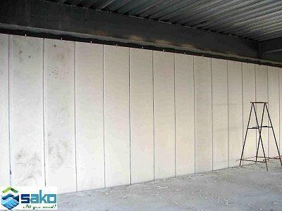 Hình ảnh sử dụng tấm panel có lõi thép xây vách tường