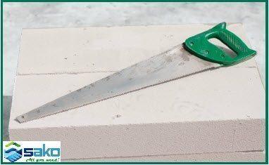 Cưa tay - dụng cụ để cắt gạch siêu nhẹ AAC
