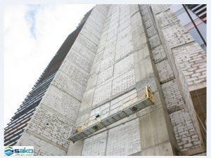 Nhà cao tầng xây toàn bộ bằng gạch siêu nhẹ AAC