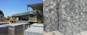 Kho bãi và nhà máy đóng gạch không nung cốt liệu