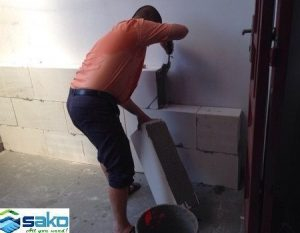 Kỹ thuật xây gạch AAC bằng vữa chuyên dụng
