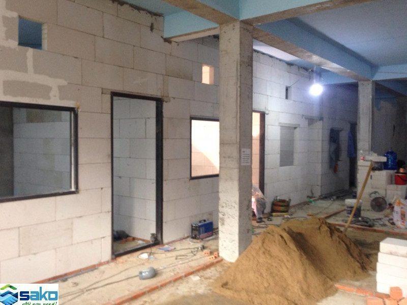 Nhà trọ được xây bằng gạch bê tông siêu nhẹ AAC