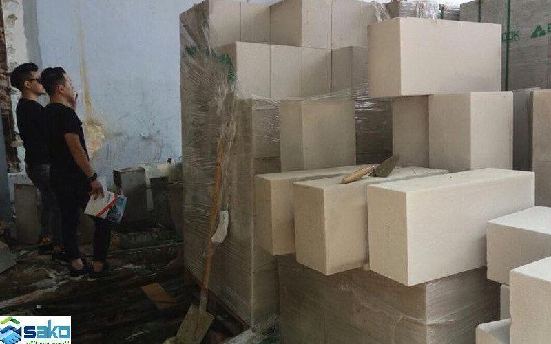 Xây nhà trọ bằng gạch siêu nhẹ, gạch bê tông nhẹ AAC