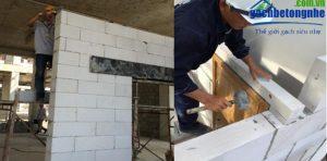 Tạo đà và lanh tô - Lưu ý khi xây gạch siêu nhẹ aac