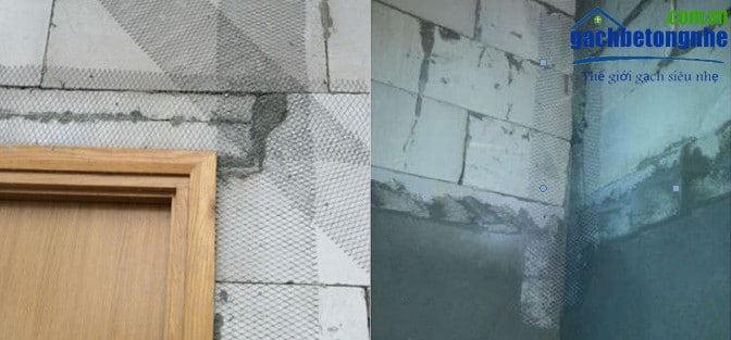 Kỹ thuật xây gạch AAC | gạch siêu nhẹ - dùng lưới thép