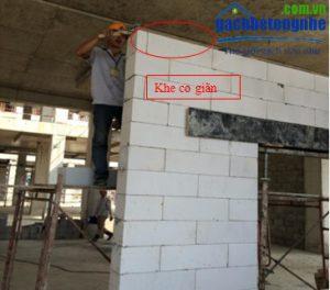 Cách xây tường gạch AAC | gạch siêu nhẹ - tạo khe co giãn