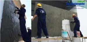 Kỹ thuật xây tô gạch siêu nhẹ aac | Công tác trát
