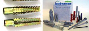 Đinh vít, nở dùng để lắp đặt thiết bị trên gạch siêu nhẹ aac