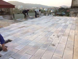 Gạch chống nóng siêu nhẹ aac để chống nóng mái bê tông