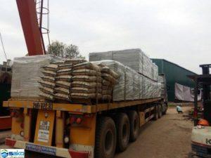 Vận chuyển container chở gạch siêu nhẹ AAC