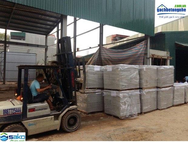 Vận chuyển cung cấp gạch AAC tại các tỉnh