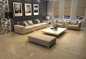 Gạch ốp lát hoàn thiện cho khu vực phòng khách