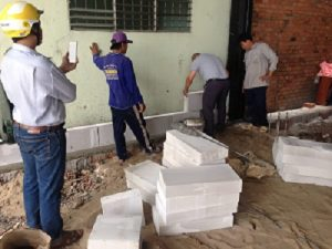 Gạch chống nóng siêu nhẹm xây nhà trọ, nhà cho thuê