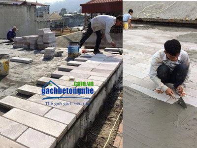 Gạch chống nóng siêu nhẹ mái bê tông