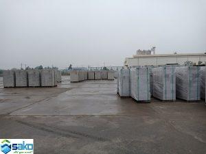 Kho gạch nhẹ AAC, nhà máy sản xuất gạch AAC