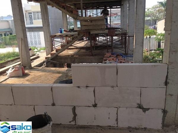 Xây nhà xưởng bằng gạch AAC và vữa chuyên dụng