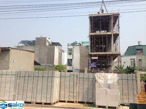 Gạch siêu nhẹ AAC xây nhà ở cao tầng