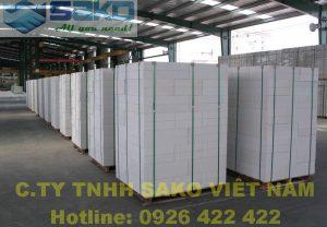 Tổng kho gạch nhẹ AAC của công ty SAKO Việt Nam