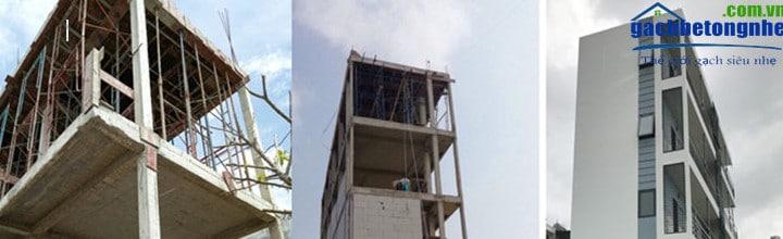 Các công trình tại Hà Nội xây dựng bằng gạch siêu nhẹ aac