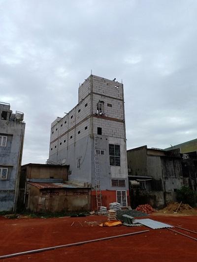 Hình ảnh nhà phố xây bằng gạch bê tông nhẹ aac