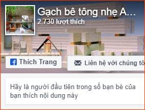 Trang facebook Gạch Siêu Nhẹ