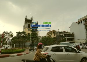Công trình cải tạo tại Hà Nội bằng gạch bê tông nhẹ