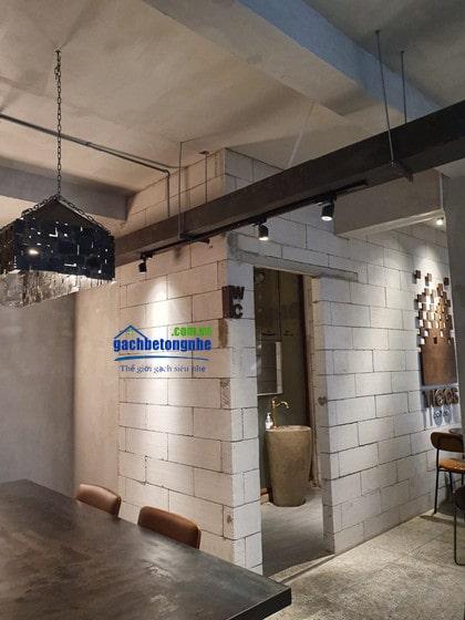 Nhà vệ sinh xây bằng gạch AAC