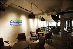 xây quán cafe bằng gạch AAC