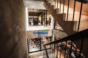 Màu bê tông cho thiết kế quán cafe