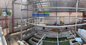 Công trình nhà xưởng dùng gạch siêu nhẹ