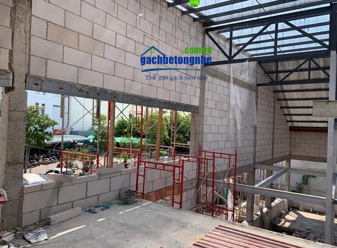 Kết cấu bên trong nhà bằng gạch AAC