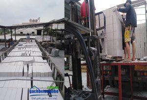 Giao gạch bê tông nhẹ tới TP HCM