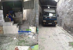 Chuyển gạch bê tông nhẹ tới Quảng Ninh