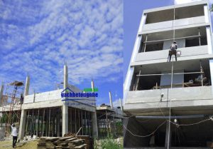 Công trình đã xây bằng gạch AAC