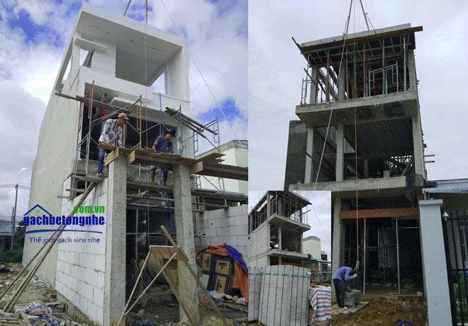 Công trình đã sử dụng gạch xây AAC tại TP HCM