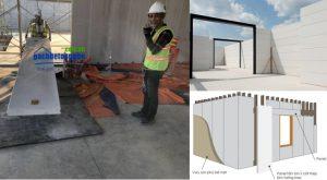 Thi công tấm panel ALC xây nhà kết cấu tường bao