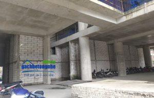 Kết cấu tường gạch siêu nhẹ tại 16 Láng Hạ