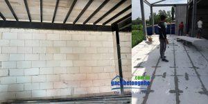 Nhà xây kết hợp giữa gạch AAC và panel ALC
