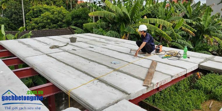 Sàn lắp ghép tấm panel ALC bê tông khí Viglacera