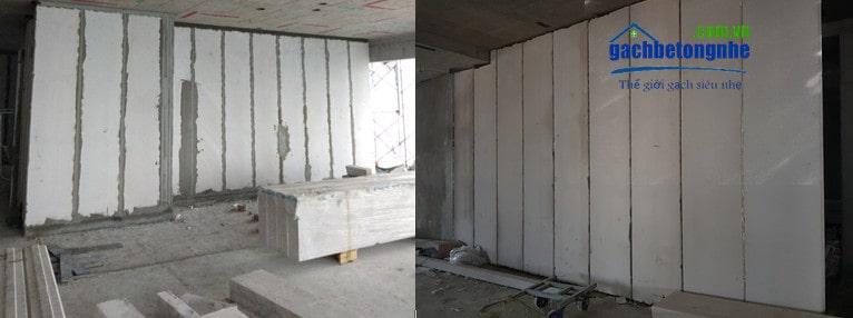 Tấm panel ALC Viglacera lắp ghép tại Hà Nội và Hải Phòng